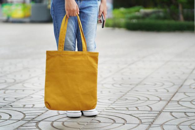 bærepose i gul