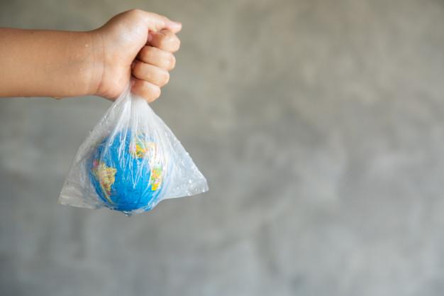 hvid plastikpose